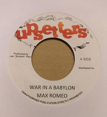 """Max Romeo - War In A Babylon / Version  7"""" Upsetters"""