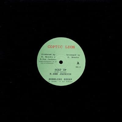 """R Zee Jackson - Seat Up / Bubbling Steep / Matic Horns - Roots O 10"""" Coptic Lion"""