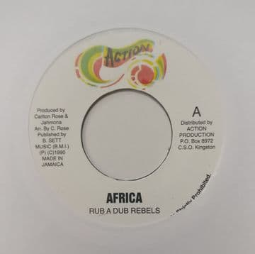 """Rub a Dub Rebels - Africa / Version 7"""" Action"""