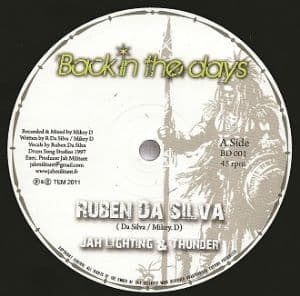 "Ruben Da Silva - Jah Lightning and Thunder / Mikey D - Dub Lightning 10"" Back In The Days"