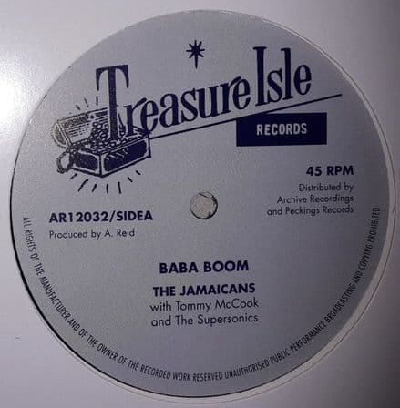"""The Jamaicans - Baba Boom / The Techniques - Travelling Man 12"""" Archive / Peckings"""