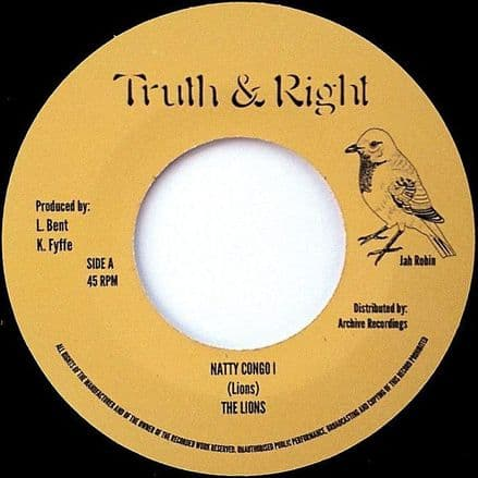 """The Lions - Natty Congo I 7"""" Archive / Truth & Right"""