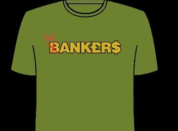 W/Bankers Tee Shirt XXL Military Green Colour G.Corp Produced NEW MINT