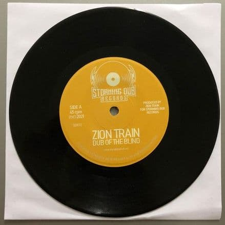"""Zion Train - Dub Of The Blind 7"""" Storming Dub Records"""