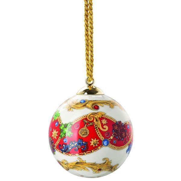 Versace Barocco Holiday Christmas 2020 Porcelain Ball