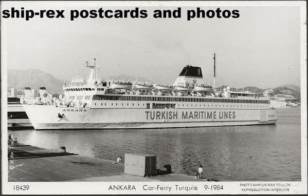ANKARA (1983, Turkish Maritime Lines) postcard