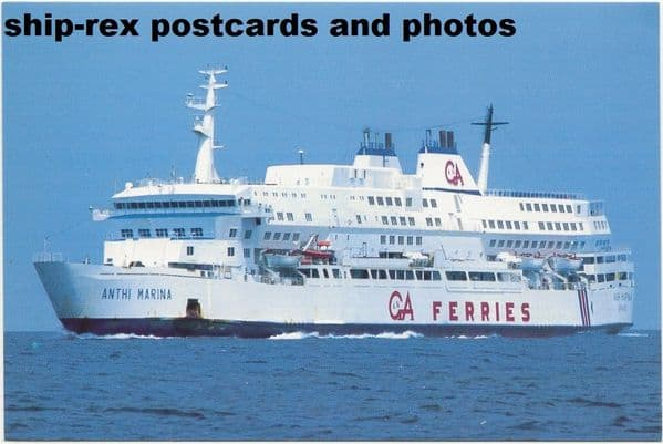 ANTHI MARINA (GA Ferries) postcard