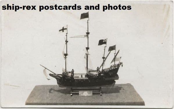 ARK ROYAL (1587, Royal Navy) model, postcard (a)