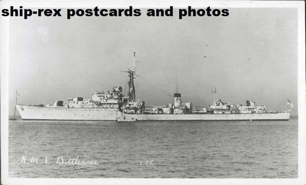 BATTLEAXE (1947, Royal Navy) postcard