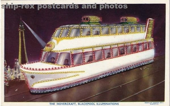 Blackpool Illuminations, The Hovercraft, postcard