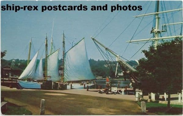 BOWDOIN (schooner) at Mystic Seaport, postcard