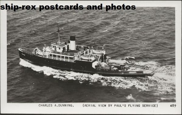 CHARLES A DUNNING (Northumberland Ferries) postcard (a)