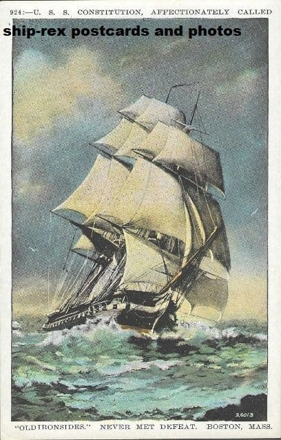 CONSTITUTION (1797a, US Navy) postcard (a1)