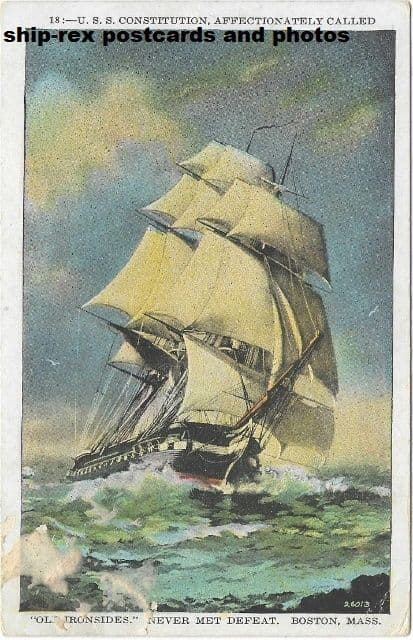 CONSTITUTION (1797a, US Navy) postcard (a2)