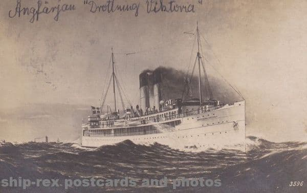 DROTTNING VICTORIA (Swedish Railways) postcard
