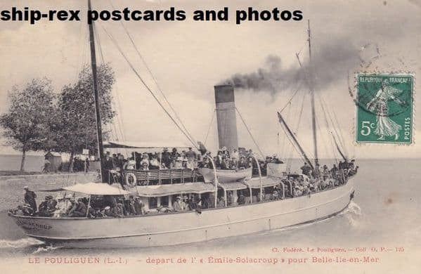 EMILE SOLACROUP (Belle Isle ferry) postcard