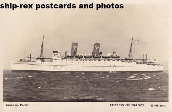 EMPRESS OF FRANCE (1948, Canadian Pacific)~d1