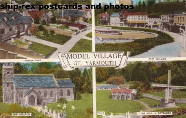 Great Yarmouth (Norfolk) model village, multi-view postcard
