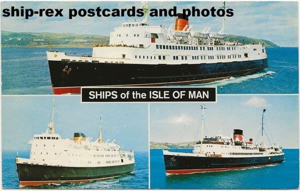 Isle Of Man ships, multiview postcard (b)