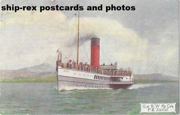 JUNO (1898, Glasgow & South Western Railway) postcard