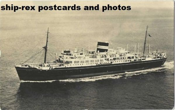 KENYA (1951a, British India Line) postcard