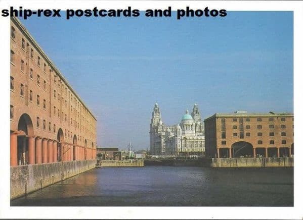 Liverpool, Albert Dock, postcard