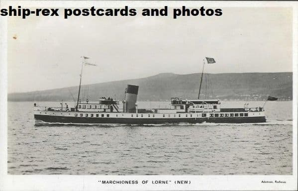 MARCHIONESS OF LORNE (Caledonian SP) postcard