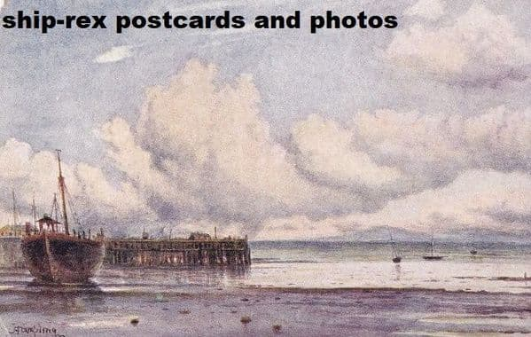 Morecambe (Lancashire) jetty & old lightship, postcard
