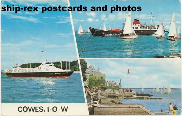 Red Funnel ferries on Cowes postcard