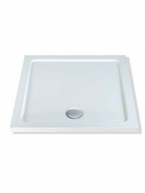 MX Durastone 1000mm x 1000mm Square Low Profile Shower Tray XFO