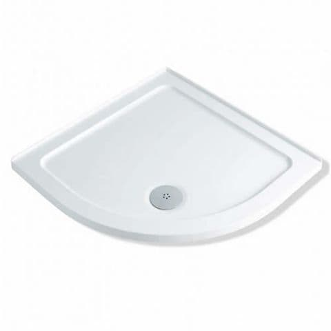 MX Durastone 900mm x 900mm Low Profile Quadrant Shower Tray with Upstands XGE