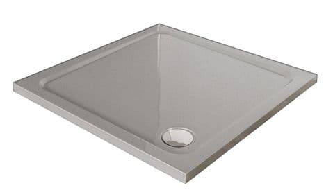 Premium Low Profile Silver Stone Resin Square Shower Tray