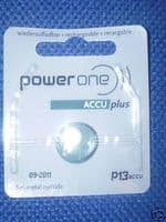 Siemens/Power One Rechargeable Hearing Aid Batteries (2 pack)
