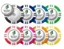 Custom Vegas Poker Chip Golf Ball Marker