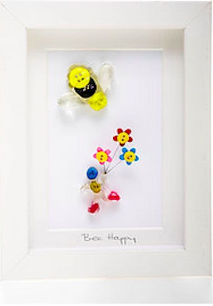 Bee Happy Shadow Box