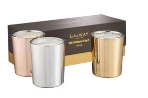 Gold, Frankincense Candle Trio