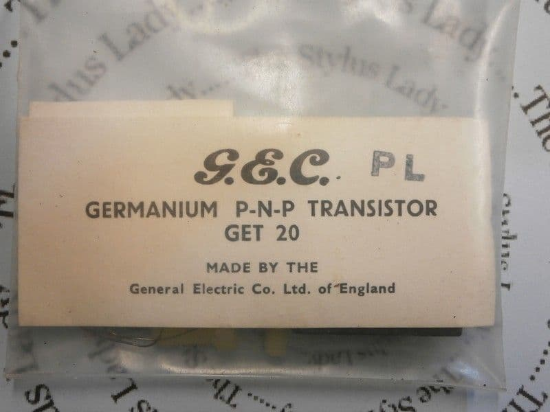GEC GET 20 germanium transistor NOS in sealed pack