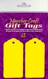 12 x Yellow Large Gift Tags / Wedding Place Card Tags / Tag Toppers
