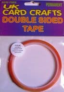 5 X 6mm Wide x 5 Meters Clear Double Sided Tape - UKCC0033
