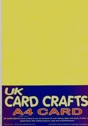 A4 Yellow Card 160gsm X 10 Sheets - UKCC0093