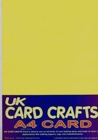 A4 Yellow Card 160gsm X 40 Sheets - UKCC0187