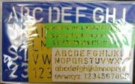 Lettering Stencils x 4 Different Sizes