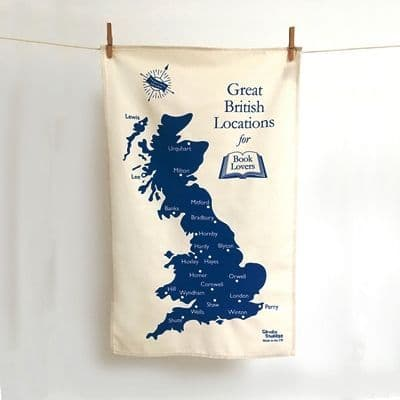 Great British Locations for Book Lovers Tea Towel
