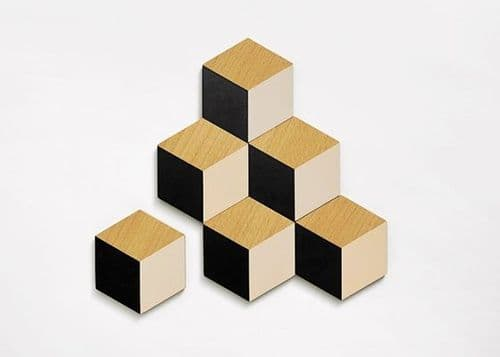 Black and Beige Table Tile Coasters