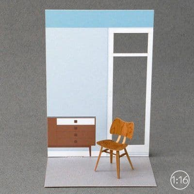 Butterfly chair | paper model kit
