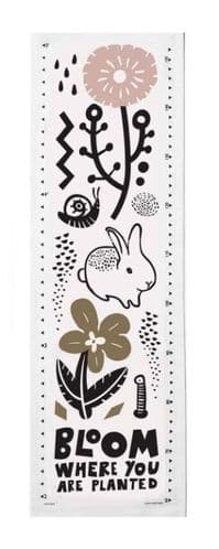 Canvas Growth Chart - Watch Me Bloom