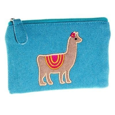 Felt Llama Purse - Light Blue