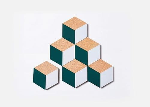 Green and Grey Table Tile Coasters