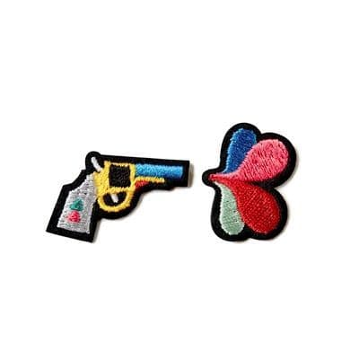 Gun and Flower Repair Patches