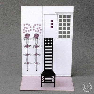 Hill House 1 chair | paper model kit